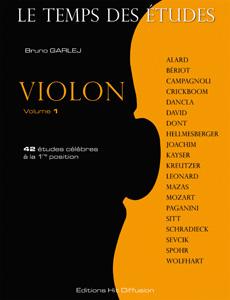 Le Temps des études violon vol.1