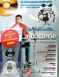 Pack n°2 Je débute la batterie avec CD + 1 métronome MM2 Korg