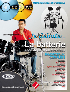 Je débute la batterie CD + DVD